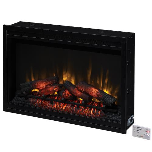 """Classic Flame - 36"""" Traditional Built-In Electric Fireplace Insert, 120 Volt"""