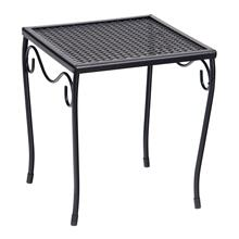 Mesh Top Small Square End Table