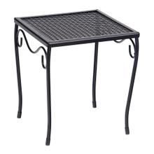 See Details - Mesh Top Small Square End Table