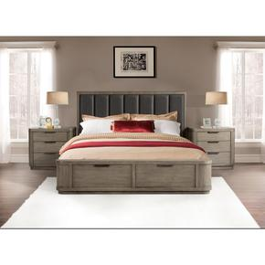 Precision - King/california King Storage Footboard - Gray Wash Finish