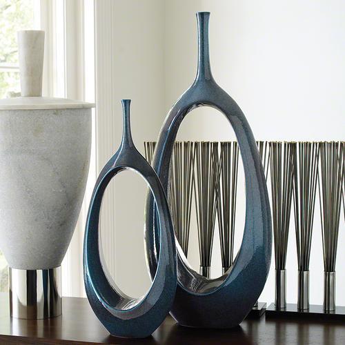 Open Oval Ring Vase-Celestial-Sm