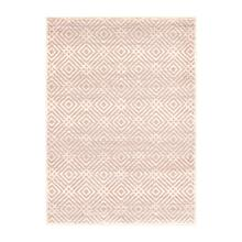 Avilla - Aged Diamonds Area Rug, Beige and Pink, 5' x 7'