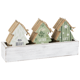 Forest Green - Ornament Trees in Crate (12 pc. ppk.)
