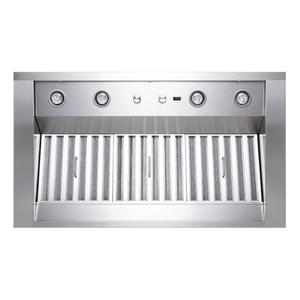 """WP28 - 54"""" Stainless Steel Pro-Style Range Hood with 300 to 1650 Max CFM internal/external blower options"""