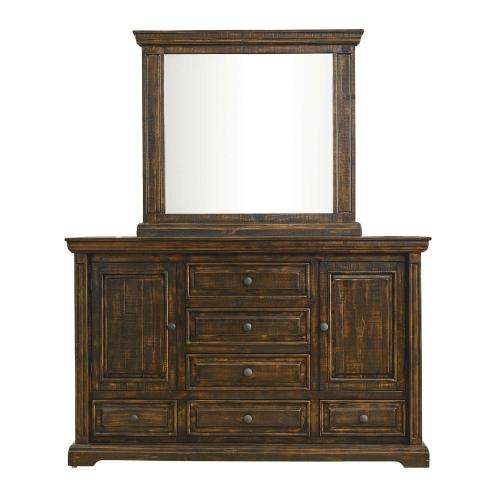 Condesa Tobacco Bedroom -Queen Bed, Dresser, Mirror, Chest, and Night Stand