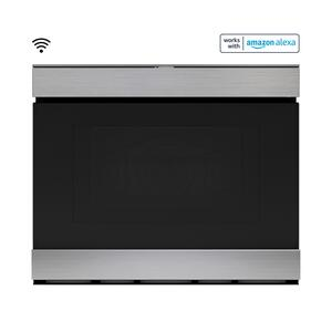 """Sharp Appliances24"""" Built-In Smart Convection Microwave Drawer Oven"""