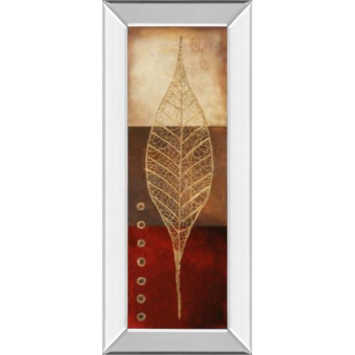 """Classy Art - """"Fossil Leaves Il"""" By Patricia Pinto Mirror Framed Print Wall Art"""