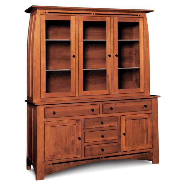 """See Details - Aspen Closed Hutch with Inlay, Large, 19"""" Base"""