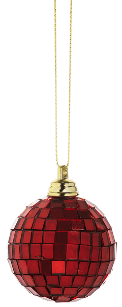 Disco Ball Ornaments - Red (18 pc. ppk.)