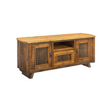 Mossy Oak Carver Point TV Stand Natural Bark Cherry Top