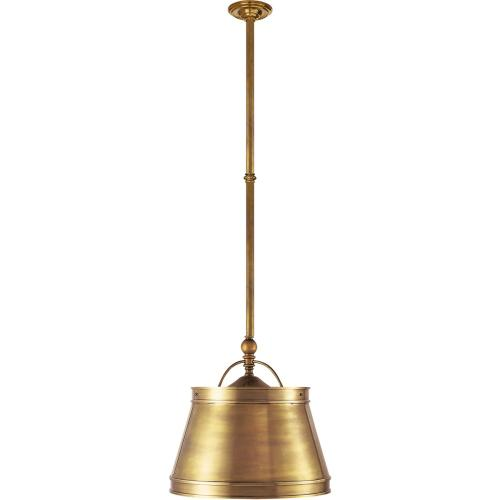 Visual Comfort CHC5101AB-AB E. F. Chapman Sloane 2 Light 16 inch Antique-Burnished Brass Hanging Shade Ceiling Light in Antique Brass