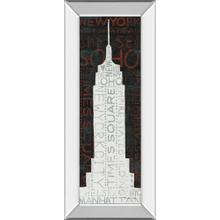 """""""Empire State Building"""" By Micheal Mullan Mirror Framed Print Wall Art"""