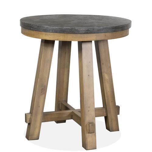 Riverside - Weatherford - Round Side Table Base - Bluestone Finish