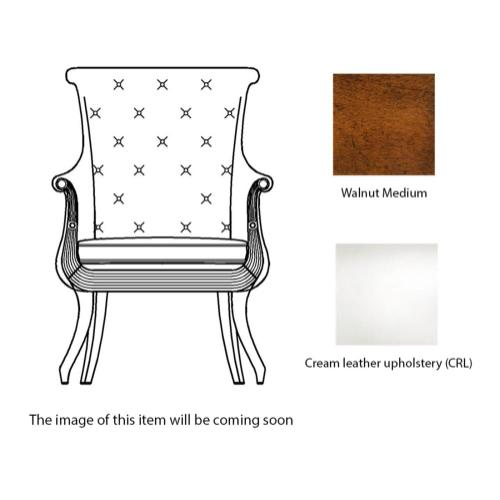 Occasional chair in cream leather