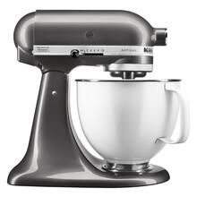Artisan® Series Tilt-Head Stand Mixer with 5 Quart White Colorfast Finish Stainless Steel Bowl - Liquid Graphite