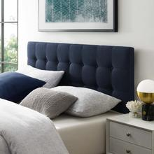 See Details - Emily Queen Upholstered Fabric Headboard in Navy