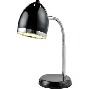 Desk Lamp, Black/chrome, Gu24 Type Cfl 13w