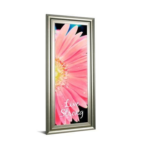 """Classy Art - """"Live Strong Daisy"""" By Susan Bryant Framed Print Wall Art"""