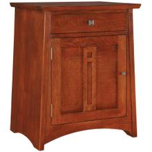 Oak, Left Hinged Door Highlands Door Night Stand