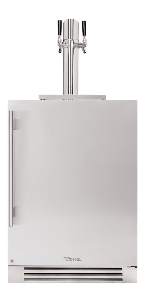 True Residential24 Inch Dual Tap Solid Stainless Door Right Hinge Undercounter Beverage Dispenser