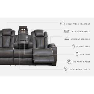Signature Design By Ashley - Turbulance Power Reclining Sofa
