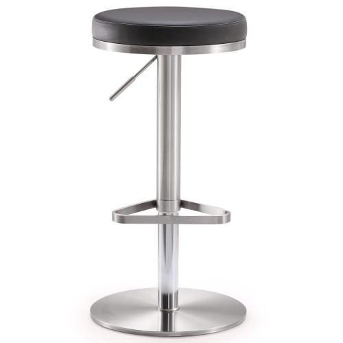 Fano Black Stainless Steel Barstool