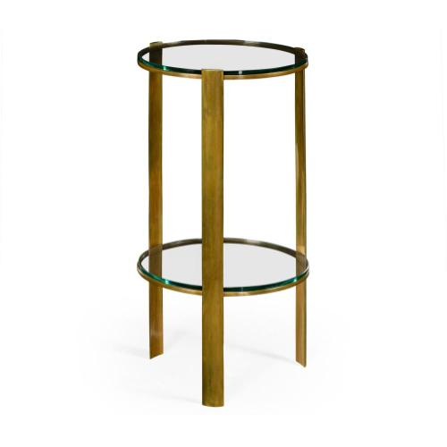 Brass round lamp table