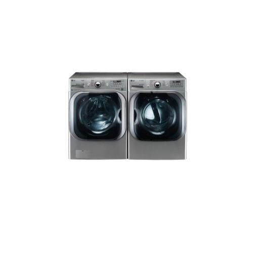 LG - 5.2 cu. ft. Mega Capacity TurboWash® Washer with Steam Technology