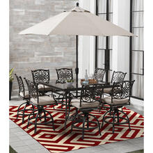 Hanover 8 Ft. x 10 Ft. Indoor/Outdoor Backless Rug with 5000 Hours of UV Protection - Greek Key Red, HANRG8X10GK-RED
