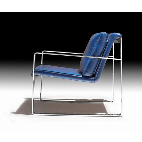 Divani Casa Apex Modern Blue Leatherette Accent Chair