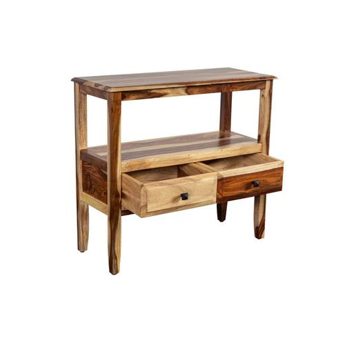 Sheesham Accents 2 Drawer Console Table, PDU-108