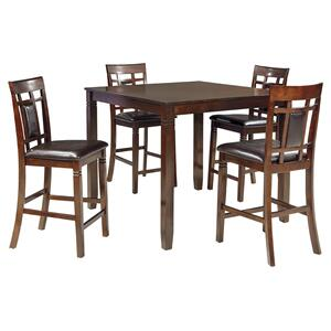 Ashley FurnitureSIGNATURE DESIGN BY ASHLEYBennox Counter Height Dining Room Table and Bar Stools (set of 5)