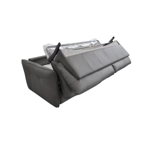 Estro Salotti Smack Italian Modern Grey Leather Large Sofa Bed