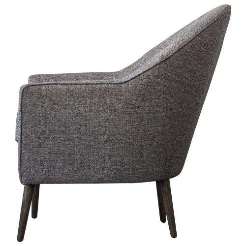 Duncan Fabric Accent Arm Chair, Century Gray