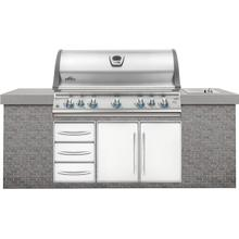 Product Image - Built-In LEX 730 RBI Stainless Steel with Infrared Bottom and Rear Burners