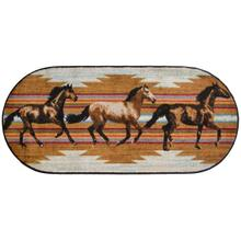"""See Details - Cozy Cabin Gallop 20""""x44"""" Oval"""