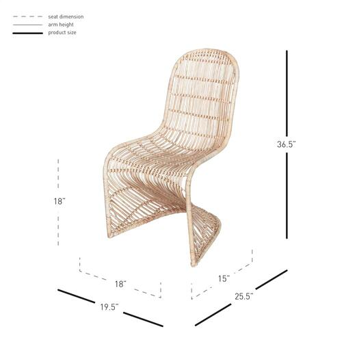 Product Image - Groovy Rattan Dining Side Chair, Natural