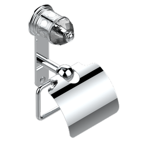 Toilet paper holder, single mount with cover