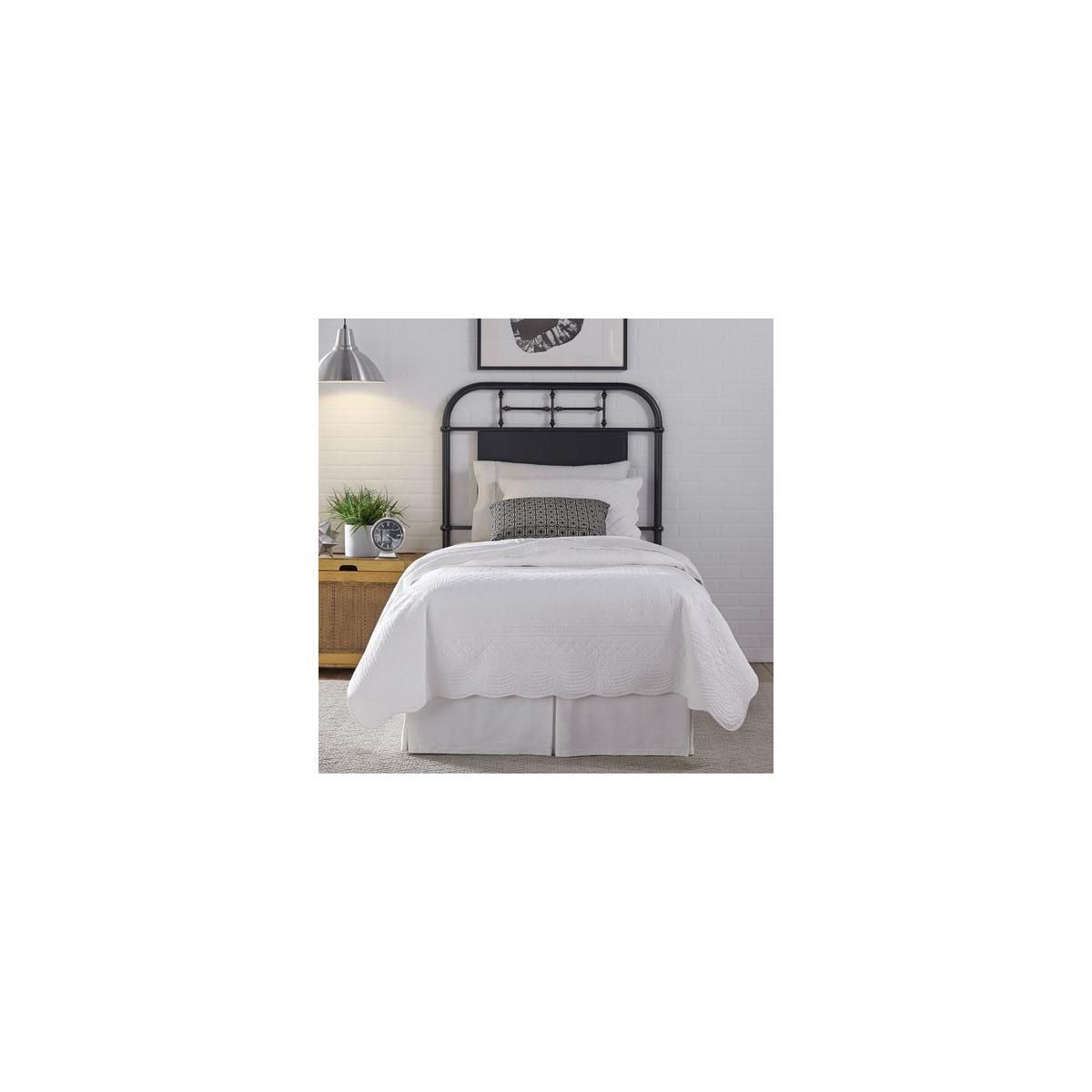 Twin Metal Headboard - Black