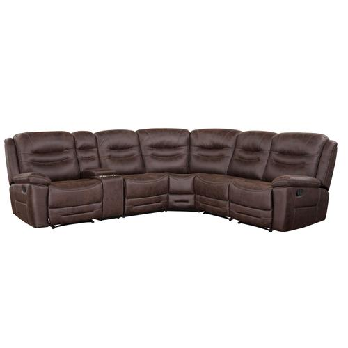 Stetson 6-Piece Manual Reclining Sectional