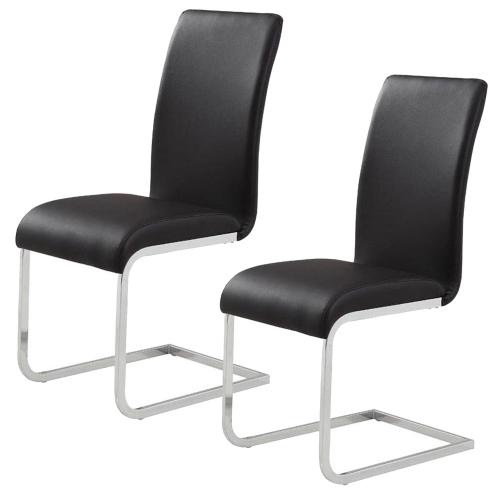 Maxim Side Chair, set of 2 in Black