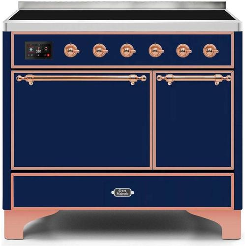40 Inch Blue Electric Freestanding Range