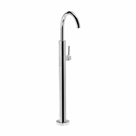 Techno - Floor Mount Tub Filler - Brushed Nickel