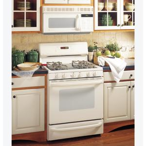 """GE Profile Performance Spectra 30"""" Free-Standing Smooth-Top Convection Gas Range with Warming Drawer"""