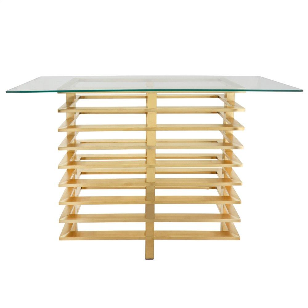 Metal Stacked Console Table, Gold