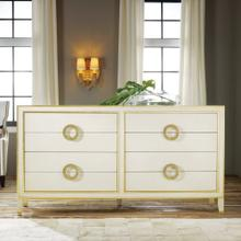 Abstract Dresser-Cream With Gold