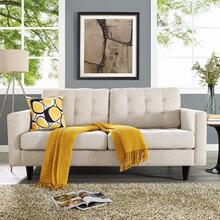 See Details - Empress Upholstered Fabric Loveseat in Beige