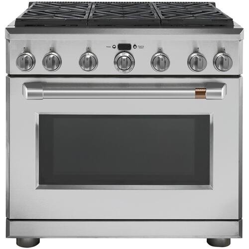 "Café 36"" All-Gas Commercial-Style Range with 6 Burners (Natural Gas)"