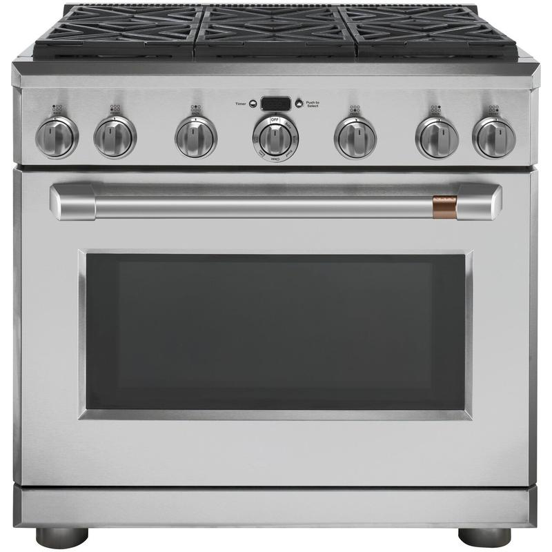 """Café™ 36"""" All-Gas Commercial-Style Range with 6 Burners (Natural Gas)"""