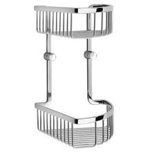 See Details - Corner Shower Basket, Double
